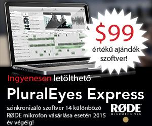 Red Giant PluralEyes Express 14 különböző RODE mikrofonhoz!