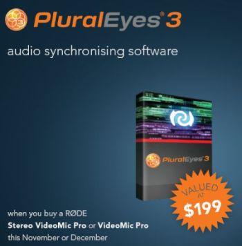 Plural Eyes 3 ajándékba!
