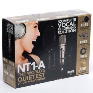 Rode NT1-A nagymembrános kondenzátor stúdiómikrofon
