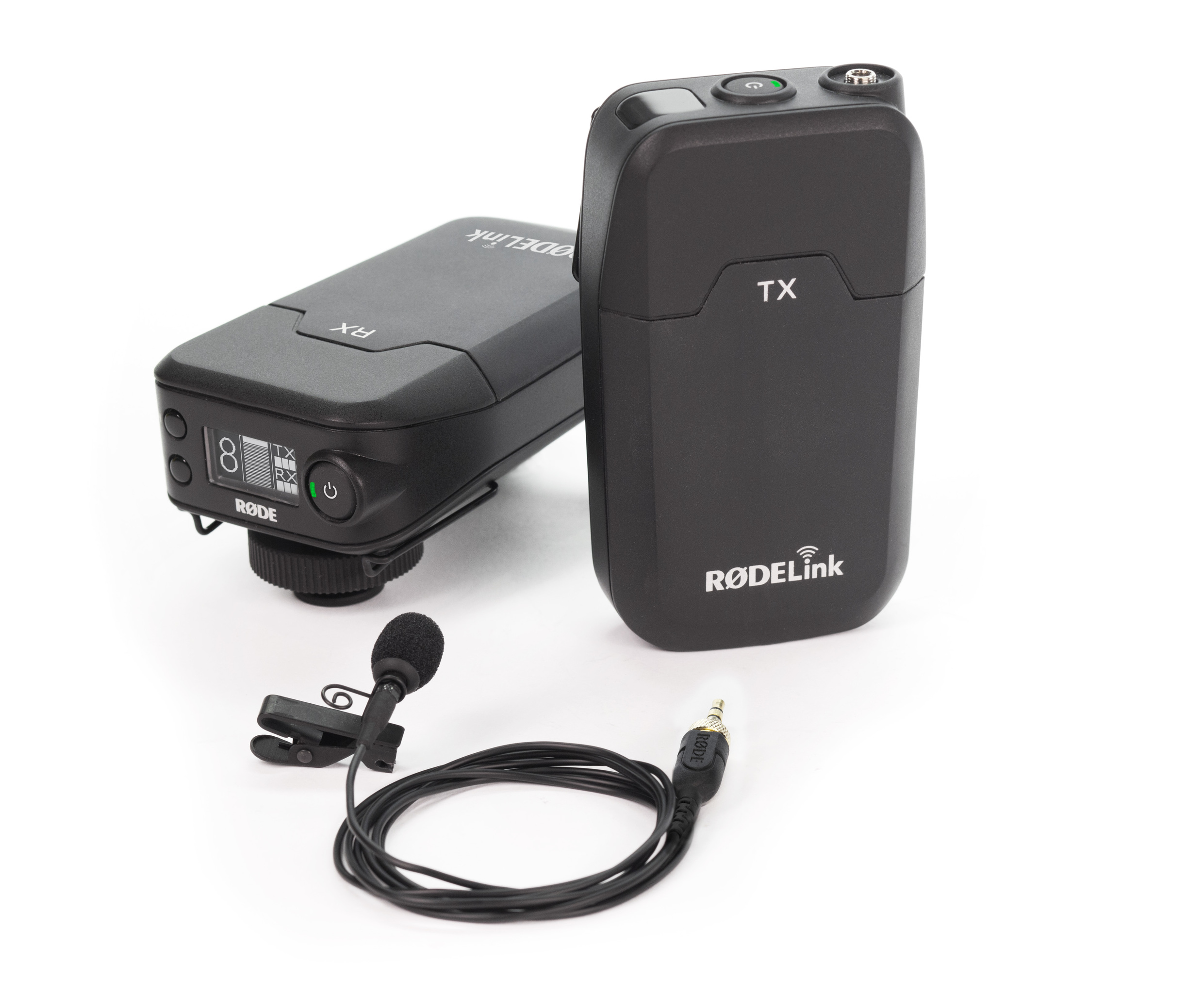 RODE Filmmaker Kit (RX,TX) RodeLink digitális vezeték nélküli csíptetős mikrofon készlet, RX CAM kamera vevő, TX BELT zsebadó, Lavalier csíptetős mikr